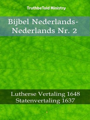 cover image of Bijbel Nederlands-Nederlands Nr. 2