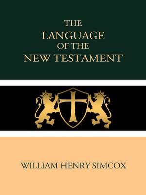 cover image of The Language of the New Testament