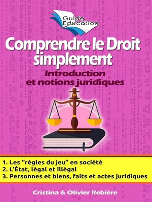 cover image of Comprendre le Droit simplement n°1