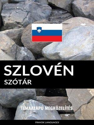 cover image of Szlovén szótár