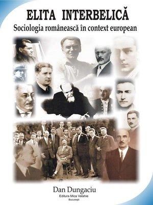 cover image of Elita interbelică