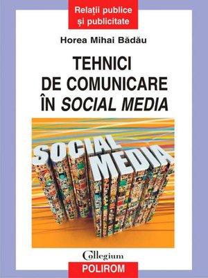 cover image of Tehnici de comunicare în social media