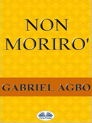 cover image of Non Morirò
