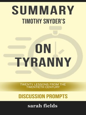 cover image of Summary: Timothy Snyder's On Tyranny