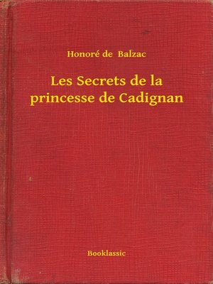 cover image of Les Secrets de la princesse de Cadignan