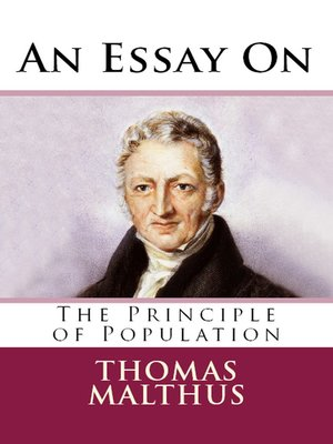 cover image of An Essay on the Principle of Population