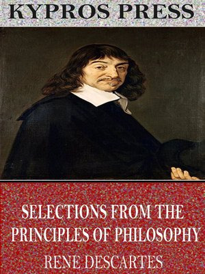 cover image of Selections from the Principles of Philosophy