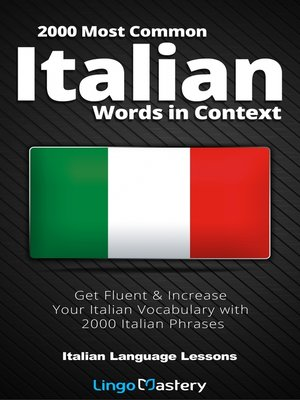 cover image of 2000 Most Common Italian Words in Context