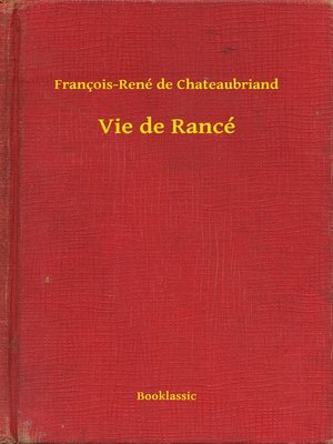 cover image of Vie de Rancé