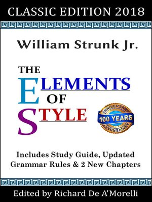 cover image of The Elements of Style: Classic Edition (2018)