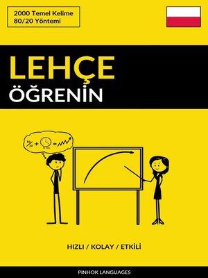 cover image of Lehçe Öğrenin--Hızlı / Kolay / Etkili