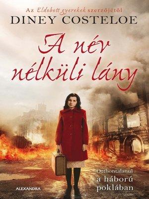 cover image of A név nélküli lány