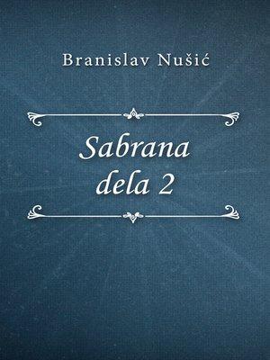 cover image of Sabrana dela 2