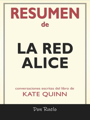 cover image of Resumen de La Red Alice