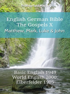 cover image of English German Bible--The Gospels X--Matthew, Mark, Luke and John