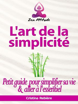 cover image of L'art de la simplicité