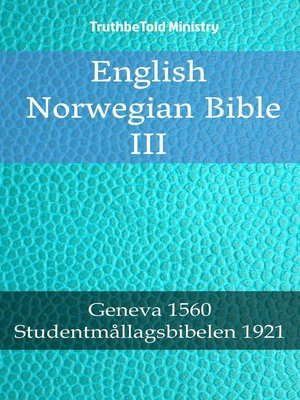 cover image of English Norwegian Bible III