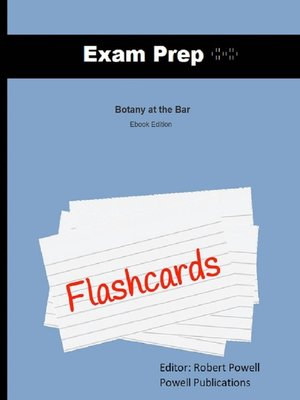 cover image of Exam Prep Flashcards for Botany at the Bar
