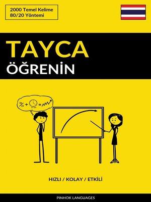 cover image of Tayca Öğrenin - Hızlı / Kolay / Etkili