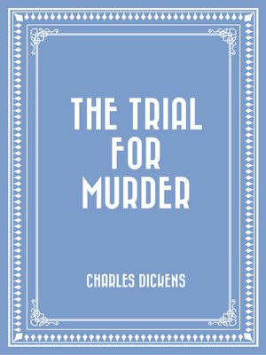 cover image of The Trial for Murder