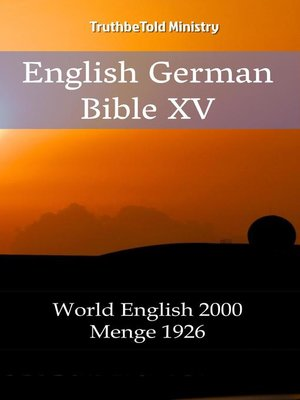 cover image of English German Bible XV