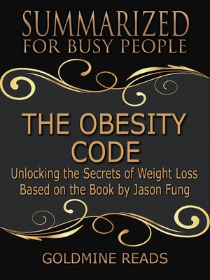 cover image of The Obesity Code Summary Promo