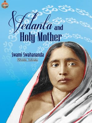 cover image of Vedanta and Holy Mother