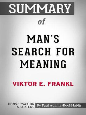cover image of Summary of Man's Search for Meaning