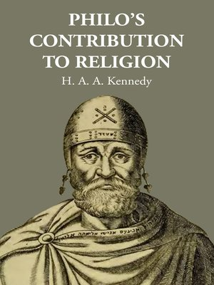 cover image of Philo's Contribution to Religion
