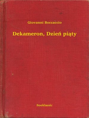 cover image of Dekameron, Dzień piąty