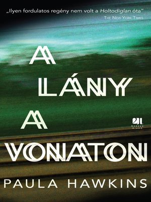 cover image of A lány a vonaton