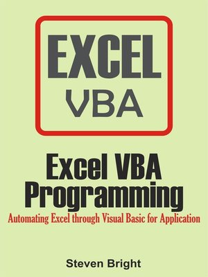 cover image of Excel VBA Programming