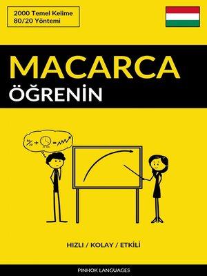 cover image of Macarca Öğrenin--Hızlı / Kolay / Etkili