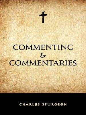cover image of Commenting & Commentaries
