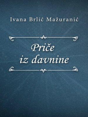 cover image of Priče iz davnine