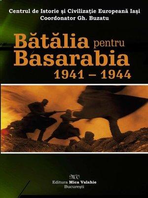 cover image of Bătălia pentru Basarabia