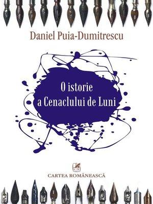 cover image of O istorie a Cenaclului de Luni