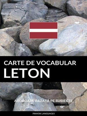 cover image of Carte de Vocabular Leton