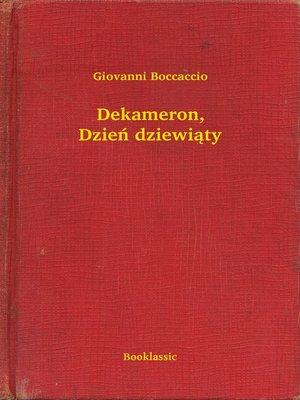 cover image of Dekameron, Dzień dziewiąty