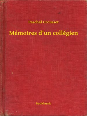 cover image of Mémoires d'un collégien