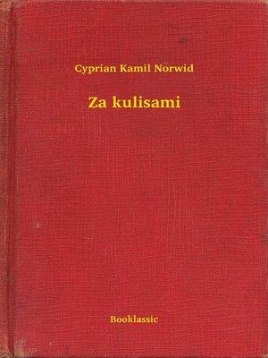 cover image of Za kulisami