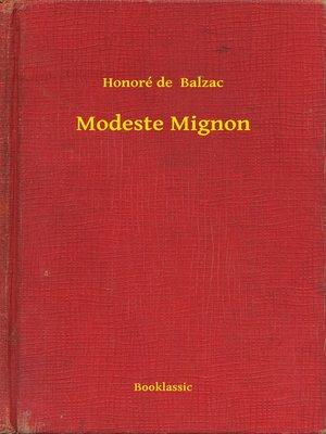 cover image of Modeste Mignon
