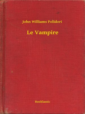 cover image of Le Vampire
