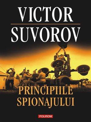 cover image of Principiile spionajului