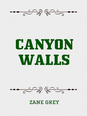 cover image of Canyon Walls