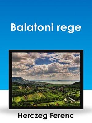 cover image of Balatoni rege