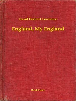 cover image of England, My England