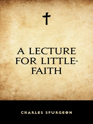 cover image of A Lecture for Little-Faith