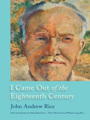 cover image of I Came Out of the Eighteenth Century