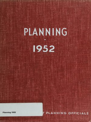 cover image of Planning 1952